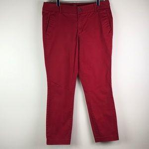 J. Crew Red Frankie pants size 10